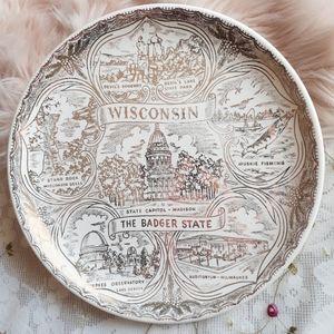 VTG Wisconsin Souvenir Collectible Decor Plate